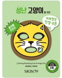 Skin79 Maska Kojąca w Płacie Animal Mask - For Angry Cat