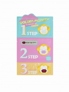 Holika Holika Golden Monkey 3-Step Kit Maseczka Na Usta